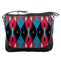 Triangles Stripes And Other Shapes                                                                                                         			messenger Bag by LalyLauraFLM
