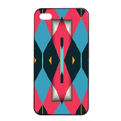 Triangles Stripes And Other Shapes                                                                                                        			apple Iphone 4/4s Seamless Case (black) by LalyLauraFLM