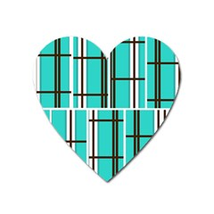 Black And White Stripes                                                                                                          			magnet (heart) by LalyLauraFLM