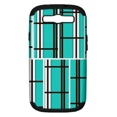Black and white stripes                                                                                                         			Samsung Galaxy S III Hardshell Case (PC+Silicone) by LalyLauraFLM