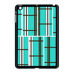 Black And White Stripes                                                                                                         			apple Ipad Mini Case (black) by LalyLauraFLM