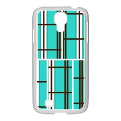 Black and white stripes                                                                                                         			Samsung GALAXY S4 I9500/ I9505 Case (White) by LalyLauraFLM