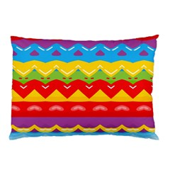 Colorful Waves                                                                                                           pillow Case by LalyLauraFLM