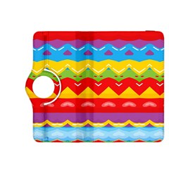 Colorful Waves                                                                                                          			kindle Fire Hdx 8 9  Flip 360 Case by LalyLauraFLM