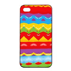 Colorful Waves                                                                                                          			apple Iphone 4/4s Seamless Case (black) by LalyLauraFLM