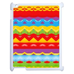 Colorful Waves                                                                                                          			apple Ipad 2 Case (white) by LalyLauraFLM