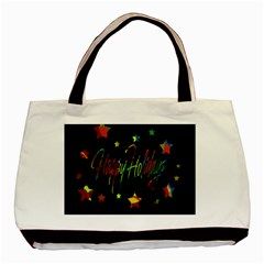 Happy Holidays Basic Tote Bag by Valentinaart