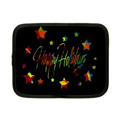 Happy Holidays Netbook Case (small)  by Valentinaart