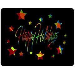 Happy Holidays Fleece Blanket (medium)