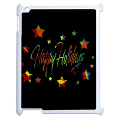 Happy Holidays Apple Ipad 2 Case (white) by Valentinaart