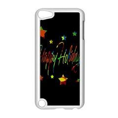 Happy Holidays Apple Ipod Touch 5 Case (white) by Valentinaart
