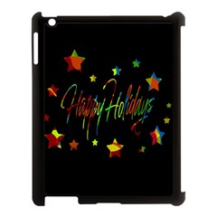 Happy Holidays Apple Ipad 3/4 Case (black) by Valentinaart