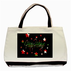 Happy Holidays 2  Basic Tote Bag by Valentinaart