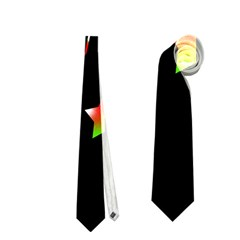 Happy Holidays 2  Neckties (two Side)  by Valentinaart