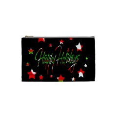 Happy Holidays 2  Cosmetic Bag (small)  by Valentinaart