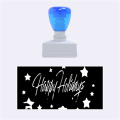 Happy Holidays 2  Rubber Stamps (medium)  by Valentinaart