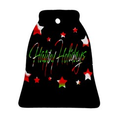 Happy Holidays 2  Bell Ornament (2 Sides) by Valentinaart
