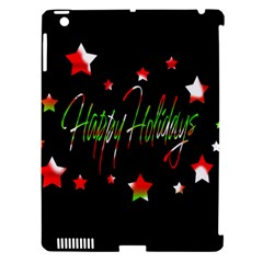 Happy Holidays 2  Apple Ipad 3/4 Hardshell Case (compatible With Smart Cover) by Valentinaart