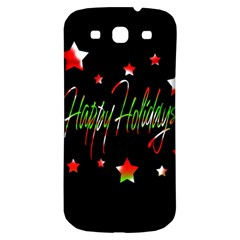 Happy Holidays 2  Samsung Galaxy S3 S Iii Classic Hardshell Back Case by Valentinaart