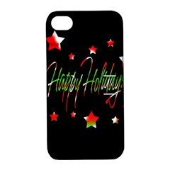 Happy Holidays 2  Apple Iphone 4/4s Hardshell Case With Stand by Valentinaart