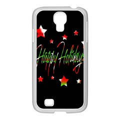 Happy Holidays 2  Samsung Galaxy S4 I9500/ I9505 Case (white) by Valentinaart
