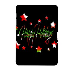 Happy Holidays 2  Samsung Galaxy Tab 2 (10 1 ) P5100 Hardshell Case  by Valentinaart