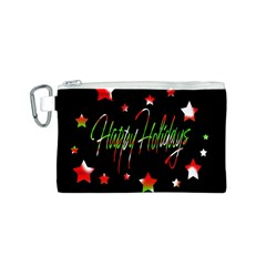 Happy Holidays 2  Canvas Cosmetic Bag (s) by Valentinaart