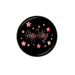 Happy Holidays 3 Hat Clip Ball Marker (4 Pack) by Valentinaart