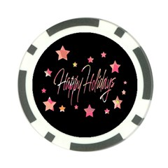 Happy Holidays 3 Poker Chip Card Guards by Valentinaart
