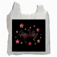 Happy Holidays 3 Recycle Bag (two Side)  by Valentinaart