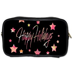 Happy Holidays 3 Toiletries Bags 2 Side by Valentinaart