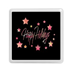 Happy Holidays 3 Memory Card Reader (square)  by Valentinaart