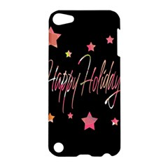 Happy Holidays 3 Apple Ipod Touch 5 Hardshell Case by Valentinaart