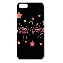 Happy Holidays 3 Apple Seamless Iphone 5 Case (clear) by Valentinaart