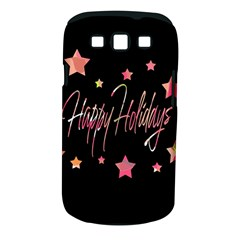 Happy Holidays 3 Samsung Galaxy S Iii Classic Hardshell Case (pc+silicone) by Valentinaart