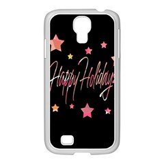 Happy Holidays 3 Samsung Galaxy S4 I9500/ I9505 Case (white) by Valentinaart