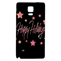 Happy Holidays 3 Galaxy Note 4 Back Case by Valentinaart