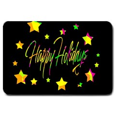 Happy Holidays 4 Large Doormat  by Valentinaart