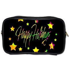 Happy Holidays 4 Toiletries Bags 2 Side by Valentinaart