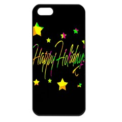 Happy Holidays 4 Apple Iphone 5 Seamless Case (black) by Valentinaart