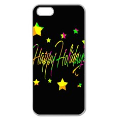 Happy Holidays 4 Apple Seamless Iphone 5 Case (clear) by Valentinaart