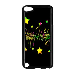 Happy Holidays 4 Apple Ipod Touch 5 Case (black) by Valentinaart