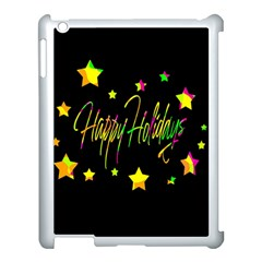 Happy Holidays 4 Apple Ipad 3/4 Case (white) by Valentinaart