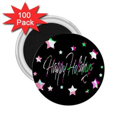 Happy Holidays 5 2 25  Magnets (100 Pack)  by Valentinaart