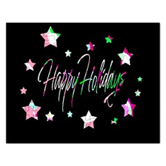 Happy Holidays 5 Rectangular Jigsaw Puzzl by Valentinaart