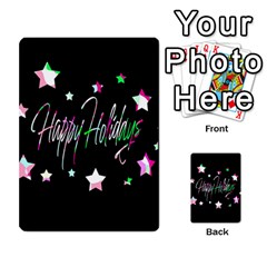 Happy Holidays 5 Multi Purpose Cards (rectangle)  by Valentinaart