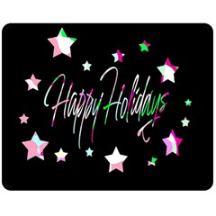Happy Holidays 5 Fleece Blanket (medium)  by Valentinaart