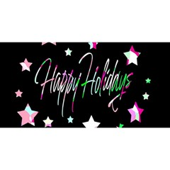 Happy Holidays 5 You Are Invited 3d Greeting Card (8x4) by Valentinaart