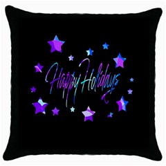 Happy Holidays 6 Throw Pillow Case (black) by Valentinaart
