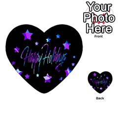 Happy Holidays 6 Multi Purpose Cards (heart)  by Valentinaart